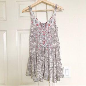 Free People Boho Printed Tunic Dress